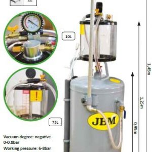OIL DRAIN WITH TANK WITH EXTRACTOR VACUUM