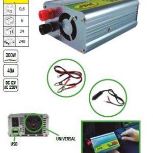 INVERTER 300W 12-220V